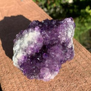 """Shop Raw & Rough Amethyst Stones! 3.3"""" AMETHYST Crystal – Amethyst Druze – Raw Mineral Specimen- Natural Cluster- Healing/Meditation Crystal- Display/Decor- From Uruguay 351g   Natural genuine stones & crystals in various shapes & sizes. Buy raw cut, tumbled, or polished gemstones for making jewelry or crystal healing energy vibration raising reiki stones. #crystals #gemstones #crystalhealing #crystalsandgemstones #energyhealing #affiliate #ad"""