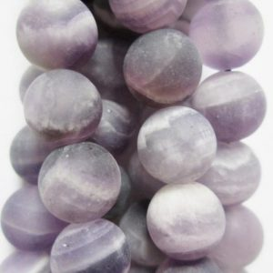 "Shop Amethyst Round Beads! Genuine Matte Amethyst Beads – Round 8 Mm Gemstone Beads – Full Strand 16"", 49 Beads, A Quality 