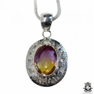Shop Ametrine Pendants! Antique Lab Created Oval Cut AMETRINE 925 Sterling Silver + BONDED Copper Pendant Snake Chain & Worldwide Shipping p4784 | Natural genuine Ametrine pendants. Buy crystal jewelry, handmade handcrafted artisan jewelry for women.  Unique handmade gift ideas. #jewelry #beadedpendants #beadedjewelry #gift #shopping #handmadejewelry #fashion #style #product #pendants #affiliate #ad