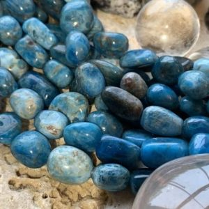 Shop Apatite Chip & Nugget Beads! Large Blue Neon Apatite Nugget Freeform Oval Beads 9-17mm Natural Apatite Beads / Rustic Gemstone Beads Sea Ocean Teal Rustix Beads | Natural genuine chip Apatite beads for beading and jewelry making.  #jewelry #beads #beadedjewelry #diyjewelry #jewelrymaking #beadstore #beading #affiliate #ad