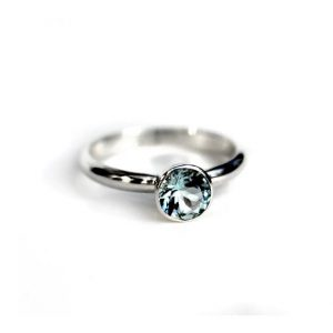 Aquamarine Princess Ring | 14k Palladium White Gold, Sterling Silver | Engagement, Promise, Birthstone Ring, Anniversary Gift, Wedding Band | Natural genuine Array rings, simple unique alternative gemstone engagement rings. #rings #jewelry #bridal #wedding #jewelryaccessories #engagementrings #weddingideas #affiliate #ad