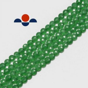 """Shop Aventurine Bead Shapes! Green Aventurine Faceted Coin Shape Size 6mm 15.5"""" Strand 