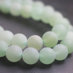 Shop Aventurine Beads! Matte Green Aventurine Gemstone Beads,6mm/8mm/10mm/12mm Natural Smooth and Round Stone Beads,15 inches one starand | Natural genuine beads Aventurine beads for beading and jewelry making.  #jewelry #beads #beadedjewelry #diyjewelry #jewelrymaking #beadstore #beading #affiliate #ad