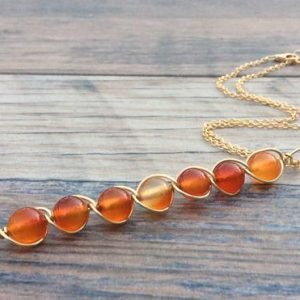 Shop Carnelian Necklaces! Carnelian necklace, Sacral chakra, 14k Gold filled or Sterling | Natural genuine Carnelian necklaces. Buy crystal jewelry, handmade handcrafted artisan jewelry for women.  Unique handmade gift ideas. #jewelry #beadednecklaces #beadedjewelry #gift #shopping #handmadejewelry #fashion #style #product #necklaces #affiliate #ad