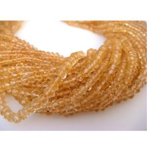 Shop Citrine Faceted Beads! Citrine Micro Faceted Rondelle Beads – 3mm Each – 14 Inch Strand | Natural genuine faceted Citrine beads for beading and jewelry making.  #jewelry #beads #beadedjewelry #diyjewelry #jewelrymaking #beadstore #beading #affiliate #ad