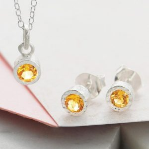 Shop Citrine Pendants! Silver Citrine Set, Silver Gemstone Set, November Birthstone Set, 925 Silver Citrine Pendant, Citrine Earrings, Bridesmaids Jewelry Set | Natural genuine Citrine pendants. Buy crystal jewelry, handmade handcrafted artisan jewelry for women.  Unique handmade gift ideas. #jewelry #beadedpendants #beadedjewelry #gift #shopping #handmadejewelry #fashion #style #product #pendants #affiliate #ad