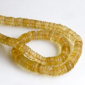 Shop Citrine Rondelle Beads! Yellow Citrine Tyre Beads, Smooth Natural Citrine Tyre Rondelle Beads, Citrine Rondelles, 6mm / 8mm Citrine Beads, 16 Inch Strand, Gds1343   Natural genuine rondelle Citrine beads for beading and jewelry making.  #jewelry #beads #beadedjewelry #diyjewelry #jewelrymaking #beadstore #beading #affiliate #ad
