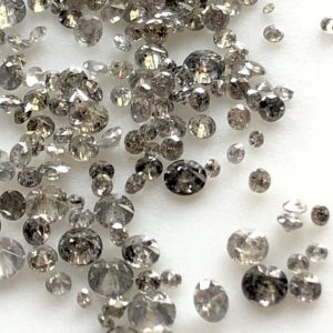 10 Pieces Tiny 1mm To 2mm/2mm To 3mm Brilliant Cut Salt And Pepper Diamond Loose, Natural Grey Black Faceted Full Cut Diamonds, DDS581/1 | Natural genuine faceted Diamond beads for beading and jewelry making.  #jewelry #beads #beadedjewelry #diyjewelry #jewelrymaking #beadstore #beading #affiliate #ad