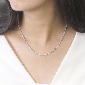 Shop Diamond Necklaces! 5.30 Ct Tennis Diamond Necklace.14k White Gold Necklace.full Eternity Necklace.women's Diamond Necklace. Natural High Quality Diamonds | Natural genuine Diamond necklaces. Buy crystal jewelry, handmade handcrafted artisan jewelry for women.  Unique handmade gift ideas. #jewelry #beadednecklaces #beadedjewelry #gift #shopping #handmadejewelry #fashion #style #product #necklaces #affiliate #ad