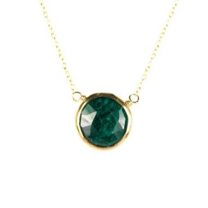 Shop Emerald Necklaces! Emerald necklace – may birthstone – green emerald – love stone – a 22k gold lined genuine green emerald on a 14K gold vermeil chain | Natural genuine Emerald necklaces. Buy crystal jewelry, handmade handcrafted artisan jewelry for women.  Unique handmade gift ideas. #jewelry #beadednecklaces #beadedjewelry #gift #shopping #handmadejewelry #fashion #style #product #necklaces #affiliate #ad