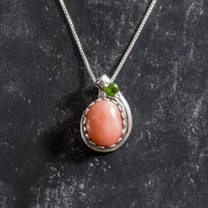 Shop Emerald Pendants! Pink Coral Pendant, Coral Pendant, Emerald Pendant, March Pendant, Pink Pendant, Unique Pendant, Solid Silver Pendant, Natural Coral, Coral   Natural genuine Emerald pendants. Buy crystal jewelry, handmade handcrafted artisan jewelry for women.  Unique handmade gift ideas. #jewelry #beadedpendants #beadedjewelry #gift #shopping #handmadejewelry #fashion #style #product #pendants #affiliate #ad