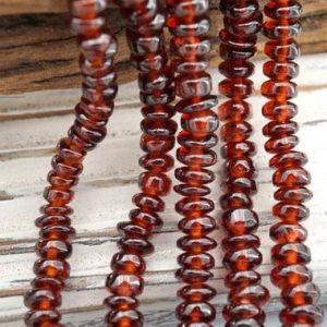 Natural Garnet 3.5-4.5mm rondelle beads (ETB00207) | Natural genuine rondelle Garnet beads for beading and jewelry making.  #jewelry #beads #beadedjewelry #diyjewelry #jewelrymaking #beadstore #beading #affiliate #ad