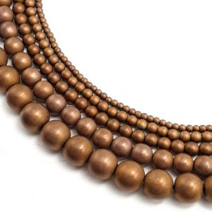 "Copper Hematite Matte Round Beads 2mm 3mm 4mm 6mm 8mm 10mm 12mm 15.5"" Strand 