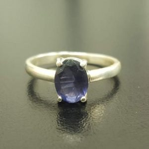 Shop Iolite Rings! Iolite Ring, Natural Iolite Ring, Violet Ring, Promise Ring,  Solid Silver Ring, Vintage Rings, Solitaire Ring, Dainty Ring, Iolite | Natural genuine Iolite rings, simple unique handcrafted gemstone rings. #rings #jewelry #shopping #gift #handmade #fashion #style #affiliate #ad