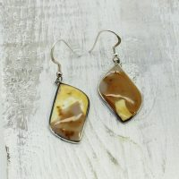 Amazing Yellow Imperial Jasper Earrings Set On 925e Sterling Silver, Dangling Type With Hooks | Natural genuine Gemstone jewelry. Buy crystal jewelry, handmade handcrafted artisan jewelry for women.  Unique handmade gift ideas. #jewelry #beadedjewelry #beadedjewelry #gift #shopping #handmadejewelry #fashion #style #product #jewelry #affiliate #ad