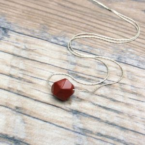 Red Jasper choker necklace sterling silver – Root Chakra – dainty necklace | Natural genuine Jasper necklaces. Buy crystal jewelry, handmade handcrafted artisan jewelry for women.  Unique handmade gift ideas. #jewelry #beadednecklaces #beadedjewelry #gift #shopping #handmadejewelry #fashion #style #product #necklaces #affiliate #ad