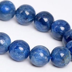 "Shop Kyanite Round Beads! 10MM Light Kyanite Beads South Africa A+ Genuine Natural Gemstone Half Strand Round Loose Beads 7.5"" Bulk Lot Options (109047h-2850) 