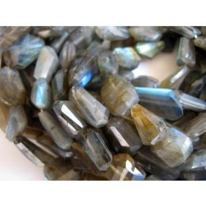 Shop Labradorite Chip & Nugget Beads! Labradorite Gemstones, Step Cut, Tumbles, Faceted Nugget Beads, 12mm To 17mm Beads, 13 Inch Strand | Natural genuine chip Labradorite beads for beading and jewelry making.  #jewelry #beads #beadedjewelry #diyjewelry #jewelrymaking #beadstore #beading #affiliate #ad