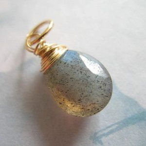 LABRADORITE Add a Dangle Charm Pendant, Pear Briolette Drop, Luxe AAA, 1 pc, 18-20 mm, 925 Sterling Silver or 14k Gold Fill..gemdone gd11 | Natural genuine other-shape Labradorite beads for beading and jewelry making.  #jewelry #beads #beadedjewelry #diyjewelry #jewelrymaking #beadstore #beading #affiliate #ad