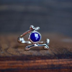 Shop Lapis Lazuli Rings! Lapis Ring – Lapis – Lapis Lazuli Ring – Lapis Lazuli – Blue Gemstone Ring – Sterling Silver – Twig Ring – Twig Jewelry – Natural Jewelry | Natural genuine Lapis Lazuli rings, simple unique handcrafted gemstone rings. #rings #jewelry #shopping #gift #handmade #fashion #style #affiliate #ad