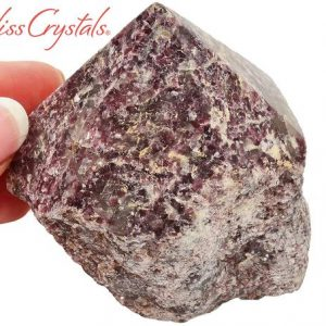 Shop Lepidolite Points & Wands! Lepidolite Polished Point Rough Tower 2.5 Inch Lithium Crystal #lp82 | Natural genuine stones & crystals in various shapes & sizes. Buy raw cut, tumbled, or polished gemstones for making jewelry or crystal healing energy vibration raising reiki stones. #crystals #gemstones #crystalhealing #crystalsandgemstones #energyhealing #affiliate #ad
