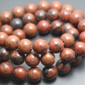 6mm / 8mm / 10mm / 12mm Mahogany Obsidian Beads, smooth And Round Stone Beads, 15 Inches One Starand | Natural genuine beads Mahogany Obsidian beads for beading and jewelry making.  #jewelry #beads #beadedjewelry #diyjewelry #jewelrymaking #beadstore #beading #affiliate #ad