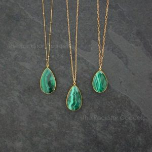 Gold Malachite Necklace / Malachite / Malachite Pendant / Malachite Jewelry / Satellite Chain / Gift for Wife | Natural genuine Array jewelry. Buy crystal jewelry, handmade handcrafted artisan jewelry for women.  Unique handmade gift ideas. #jewelry #beadedjewelry #beadedjewelry #gift #shopping #handmadejewelry #fashion #style #product #jewelry #affiliate #ad