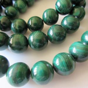 Shop Malachite Round Beads! 11mm Malachite Round Beads, Natural Malachite Beads, Wholesale Malachite Gemstones, 15 Inch Strand, SKU-2965 | Natural genuine round Malachite beads for beading and jewelry making.  #jewelry #beads #beadedjewelry #diyjewelry #jewelrymaking #beadstore #beading #affiliate #ad