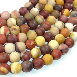 Shop Mookaite Jasper Round Beads! Matte Mookaite Beads, 10mm(10.4mm) Round Beads, 15.5 Inch, Full strand, Approx 38 beads, Hole 1 mm, A quality (320054011) | Natural genuine round Mookaite Jasper beads for beading and jewelry making.  #jewelry #beads #beadedjewelry #diyjewelry #jewelrymaking #beadstore #beading #affiliate #ad