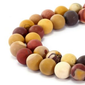 "Shop Mookaite Beads! Mookaite Jasper Matte Round Beads 6mm 8mm 10mm 12mm 15.5"" Strand 