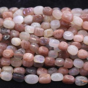 Shop Moonstone Chip & Nugget Beads! Natural Mixcolor Moonstone Nugget Beads,Natural Moonstone Beads Wholesale Bulk Supply,15 inches one starand | Natural genuine chip Moonstone beads for beading and jewelry making.  #jewelry #beads #beadedjewelry #diyjewelry #jewelrymaking #beadstore #beading #affiliate #ad