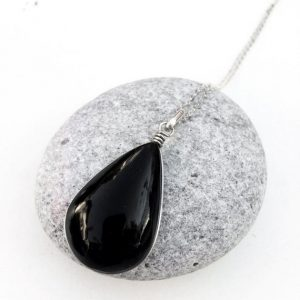 Shop Obsidian Pendants! Obsidian pendant, black Obsidian, volcanic lava, sterling silver obsidian pendant, teardrop Obsidian pendant, Boho, Mexican Obsidian | Natural genuine Obsidian pendants. Buy crystal jewelry, handmade handcrafted artisan jewelry for women.  Unique handmade gift ideas. #jewelry #beadedpendants #beadedjewelry #gift #shopping #handmadejewelry #fashion #style #product #pendants #affiliate #ad