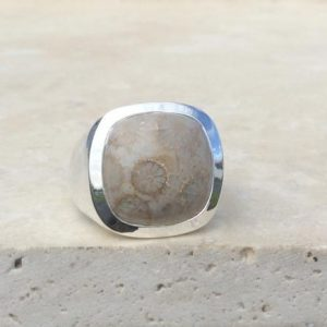 Shop Ocean Jasper Rings! Mens Gemstone Silver Ring, Large Ocean Jasper Ring, Christmas Gift for Dad, Husband Gift Idea | Natural genuine Ocean Jasper mens fashion rings, simple unique handcrafted gemstone men's rings, gifts for men. Anillos hombre. #rings #jewelry #crystaljewelry #gemstonejewelry #handmadejewelry #affiliate #ad