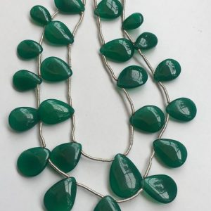 Shop Onyx Bead Shapes! 13 Pcs Green Onyx Smooth Pear Shape Beads , green Onyx Smooth Beads | Natural genuine other-shape Onyx beads for beading and jewelry making.  #jewelry #beads #beadedjewelry #diyjewelry #jewelrymaking #beadstore #beading #affiliate #ad
