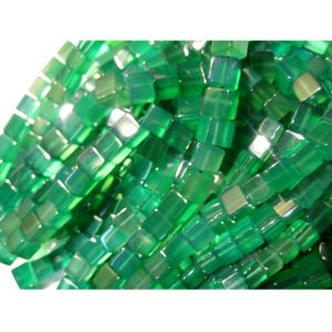 Shop Onyx Bead Shapes! Green Onyx Beads, Plain Box Beads, 6mm Beads, 16 Inches, 66 Pieces Approx, Wholesale Gemstones | Natural genuine other-shape Onyx beads for beading and jewelry making.  #jewelry #beads #beadedjewelry #diyjewelry #jewelrymaking #beadstore #beading #affiliate #ad