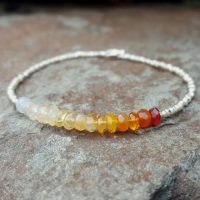 Mexican Fire Opal Bracelet Fire Opal Bracelets Fire Opal Beaded Bracelet Womens Gift October Birthstone Bracelet Fire Opal Bead Bracelet | Natural genuine Gemstone jewelry. Buy crystal jewelry, handmade handcrafted artisan jewelry for women.  Unique handmade gift ideas. #jewelry #beadedjewelry #beadedjewelry #gift #shopping #handmadejewelry #fashion #style #product #jewelry #affiliate #ad