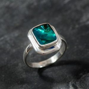 Shop Pearl Rings! Shell Ring, Shell Pearl Ring, Natural Shell Pearl, Abalone Ring, Unique Stone, Vintage Rings, Vintage Silver Ring, Real Silver Ring   Natural genuine Pearl rings, simple unique handcrafted gemstone rings. #rings #jewelry #shopping #gift #handmade #fashion #style #affiliate #ad
