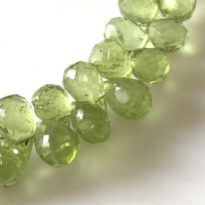 Shop Peridot Bead Shapes! Natural Peridot Faceted Teardrop Briolette Beads 7mm To 9mm Green Peridot Teardrop Beads Sold As 8 Inches & 4 Inches, GDS1676 | Natural genuine other-shape Peridot beads for beading and jewelry making.  #jewelry #beads #beadedjewelry #diyjewelry #jewelrymaking #beadstore #beading #affiliate #ad
