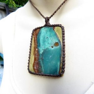 Shop Petrified Wood Necklaces! Petrified Wood, Healing Stone Necklace, High Quality Jewelry, Macrame Necklace, Anxiety Crystal, Energy Healing Jewelry, Protection Stone | Natural genuine Petrified Wood necklaces. Buy crystal jewelry, handmade handcrafted artisan jewelry for women.  Unique handmade gift ideas. #jewelry #beadednecklaces #beadedjewelry #gift #shopping #handmadejewelry #fashion #style #product #necklaces #affiliate #ad