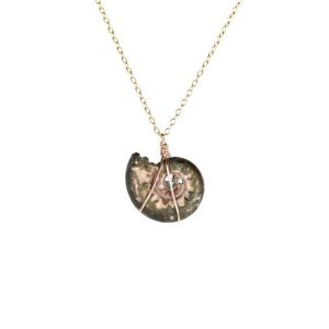 Shop Pyrite Jewelry! Ammonite necklace – fossil – shell necklace – infinity – a fossilized pyrite ammonite shell hanging on a 14k gold vermeil chain | Natural genuine Pyrite jewelry. Buy crystal jewelry, handmade handcrafted artisan jewelry for women.  Unique handmade gift ideas. #jewelry #beadedjewelry #beadedjewelry #gift #shopping #handmadejewelry #fashion #style #product #jewelry #affiliate #ad