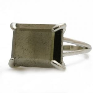 Shop Pyrite Rings! Pyrite ring,silver ring,rectangle ring,statement ring silver,prong set ring,gemstone ring,iron pyrite jewelry,mineral ring,gemstone ring | Natural genuine Pyrite rings, simple unique handcrafted gemstone rings. #rings #jewelry #shopping #gift #handmade #fashion #style #affiliate #ad