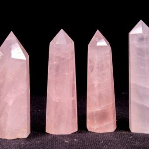 Clear Rainbow Rose Quartz Crystal Tower/Pink Quartz Crystal Point/love stone/Healing Crystal/Chakra/Feng Shui/Zen/Decor/Gift for Her | Natural genuine stones & crystals in various shapes & sizes. Buy raw cut, tumbled, or polished gemstones for making jewelry or crystal healing energy vibration raising reiki stones. #crystals #gemstones #crystalhealing #crystalsandgemstones #energyhealing #affiliate #ad