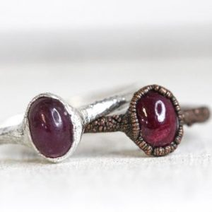 Shop Ruby Rings! Ruby Ring – Electroformed Jewelry – Untreated Ruby Ring – Cancer Jewelry | Natural genuine Ruby rings, simple unique handcrafted gemstone rings. #rings #jewelry #shopping #gift #handmade #fashion #style #affiliate #ad