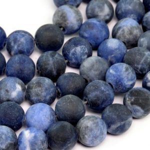 Shop Sodalite Round Beads! Matte Sodalite Beads Grade Aaa Genuine Natural Gemstone Round Loose Beads 4 / 6 / 8 / 15mm Bulk Lot Options | Natural genuine round Sodalite beads for beading and jewelry making.  #jewelry #beads #beadedjewelry #diyjewelry #jewelrymaking #beadstore #beading #affiliate #ad