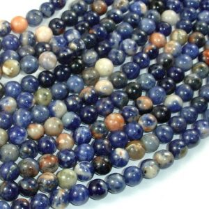 Shop Sodalite Round Beads! Orange Sodalite Beads, 6mm Round Beads, 15.5 Inch, Full Strand, Approx 65 Beads, Hole 1mm, A Quality (411054022) | Natural genuine round Sodalite beads for beading and jewelry making.  #jewelry #beads #beadedjewelry #diyjewelry #jewelrymaking #beadstore #beading #affiliate #ad