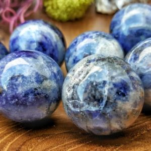 Blue Sodalite Crystal Sphere  – Natural Healing Ball for Grid Work or Terrarium 067 | Natural genuine stones & crystals in various shapes & sizes. Buy raw cut, tumbled, or polished gemstones for making jewelry or crystal healing energy vibration raising reiki stones. #crystals #gemstones #crystalhealing #crystalsandgemstones #energyhealing #affiliate #ad