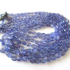 Shop Tanzanite Bead Shapes! Tanzanite Oval Beads, Smooth Tanzanite Oval Beads, Multi Strand Tanzanite Necklace, 4 Strand Multi Layer Tanzanite Necklace, Gds1145 | Natural genuine other-shape Tanzanite beads for beading and jewelry making.  #jewelry #beads #beadedjewelry #diyjewelry #jewelrymaking #beadstore #beading #affiliate #ad
