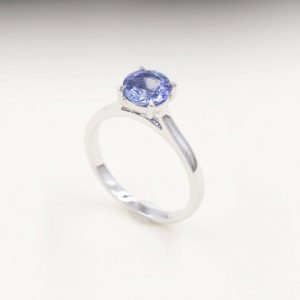 Shop Tanzanite Rings! Tanzanite Engagement Ring/Solitaire Wedding Ring/14k White Gold Ring/Solitaire Engagement Ring/Simple Engagement Ring/7mm AAA Quality Ring | Natural genuine Tanzanite rings, simple unique alternative gemstone engagement rings. #rings #jewelry #bridal #wedding #jewelryaccessories #engagementrings #weddingideas #affiliate #ad