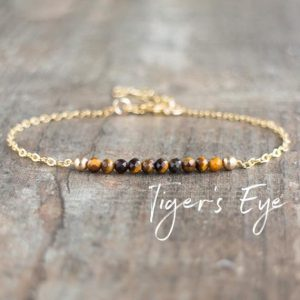 Tigers Eye Bracelet, Gemstone Bracelet, Solar Plexus Chakra Bracelet, Tigers Eye Jewelry, Gift for Friend, Gift for Women, Gemstone Jewelry | Natural genuine Tiger Eye bracelets. Buy crystal jewelry, handmade handcrafted artisan jewelry for women.  Unique handmade gift ideas. #jewelry #beadedbracelets #beadedjewelry #gift #shopping #handmadejewelry #fashion #style #product #bracelets #affiliate #ad