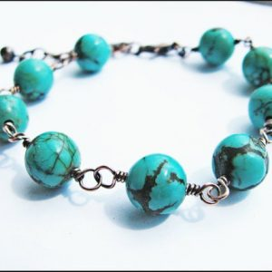Shop Turquoise Bracelets! Genuine Chinese Turquoise and Copper Bracelet | Natural genuine Turquoise bracelets. Buy crystal jewelry, handmade handcrafted artisan jewelry for women.  Unique handmade gift ideas. #jewelry #beadedbracelets #beadedjewelry #gift #shopping #handmadejewelry #fashion #style #product #bracelets #affiliate #ad